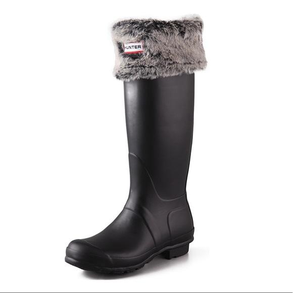 Ladies Fleece Wellington Boot Liner Socks Faux Fairisle